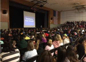 Perricone talk student assembly photo